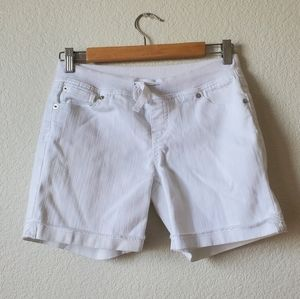 Justice Girls White Jean Shorts